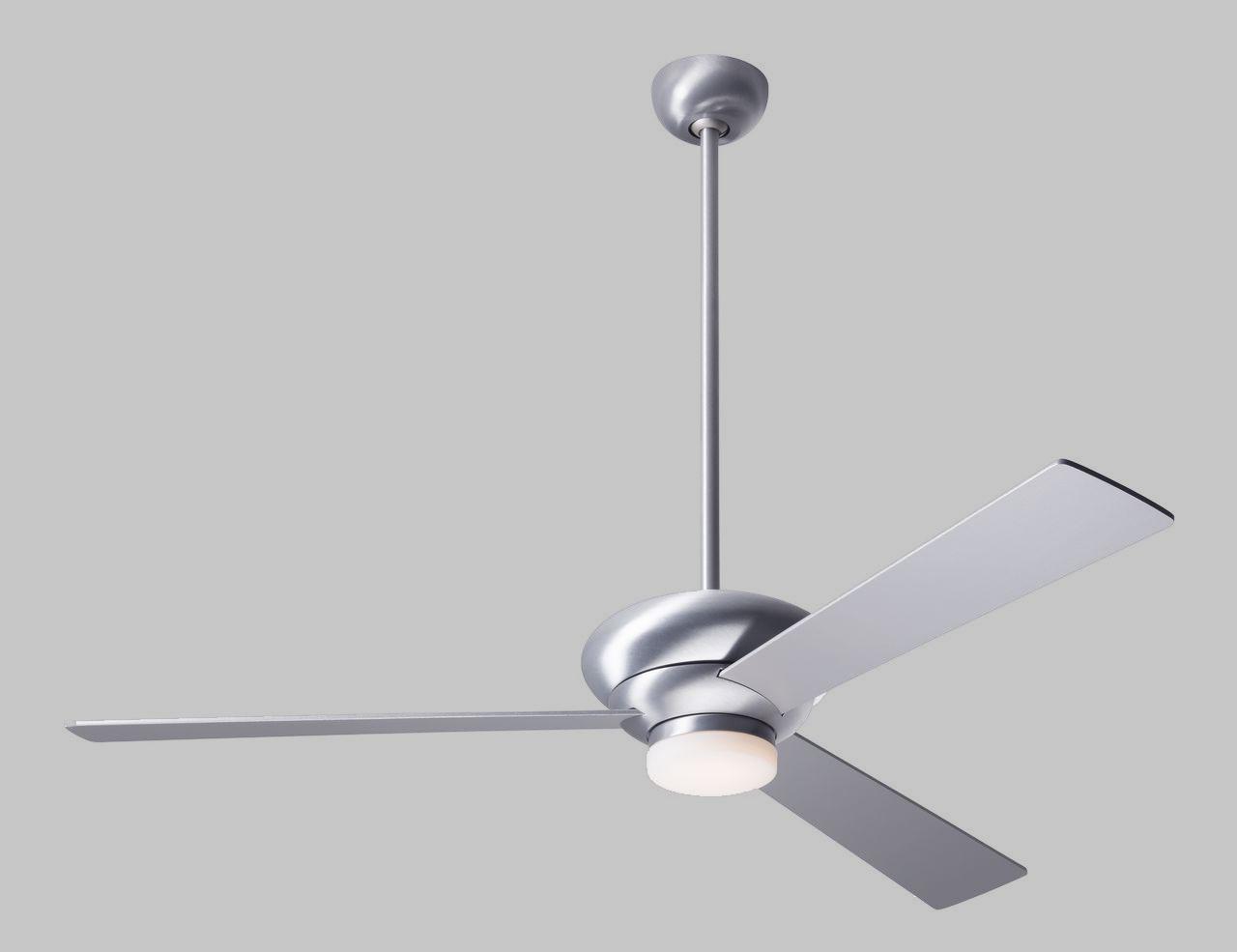 Ventilador de techo de diseño - Ventilador de techo Altus - Aluminio cepillado y aspas aluminio con luz