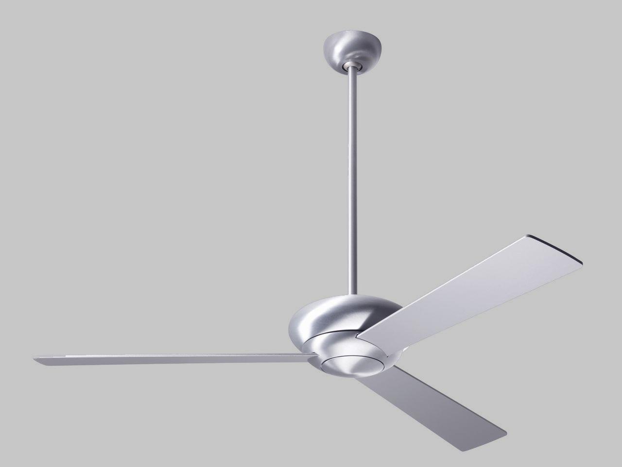 Ventilador de techo de diseño - Ventilador de techo Altus - Aluminio cepillado y aspas aluminio sin luz